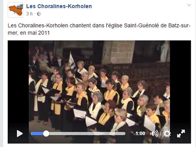 Aller sur la page Facebook des Choralines-Korholen