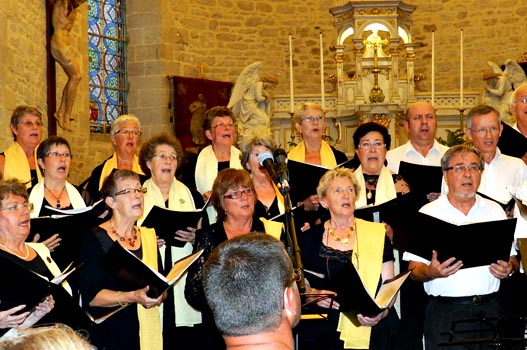 Dans l'église de Piriac (2012)